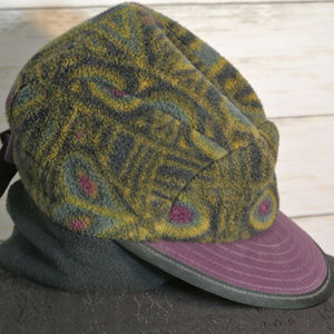 Vtg. PATAGONIA USA Fleece Hat Medium Women Flap